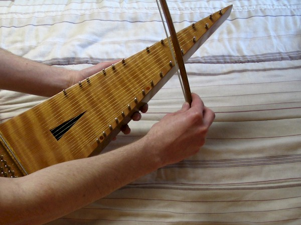 Playing a Bowed Psaltery