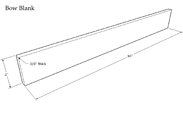 Bowed Psaltery Bow Blank CAD Plan