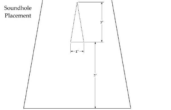 Bowed Psaltery Soundhole CAD Plan