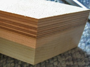 A pinblock capped with Delignit, with hard maple for the base